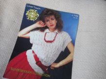 VINTAGE KNITTING PATTERN SIRDAR C7119 LADIES SUNSEEKER DK LACY TOP 30 - 40""